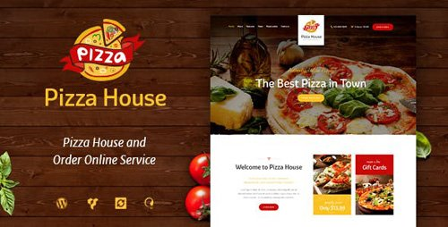 ThemeForest - Pizza House v1.2 - Restaurant / Cafe / Bistro WordPress Theme - 17622023