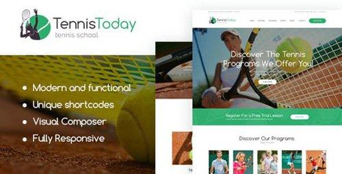 ThemeForest - Tennis Today v1.2 - Sport School & Events WordPress Theme - 19692356