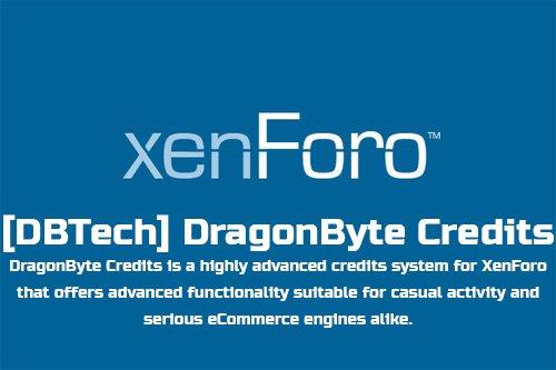 [DBTech] DragonByte Credits v5.3.0b3 - XenForo 2 Add-On