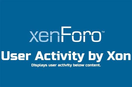 User Activity by Xon v2.4.2 - XenForo 2 Add-On