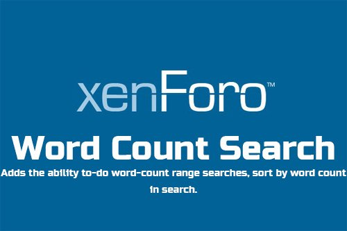 Word Count Search v2.4.2 - XenForo 2 Add-On