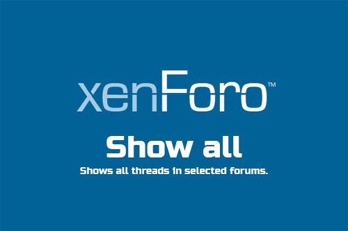 Show all v1.1 - XenForo 2 Add-On