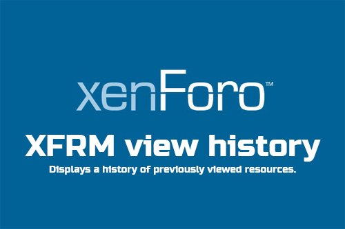 XFRM view history v1.1 - XenForo 2 Add-On