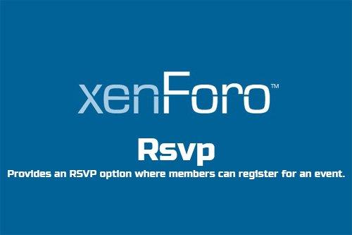 Rsvp v1.7 - XenForo 2 Add-On