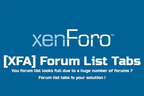 [XFA] Forum List Tabs 1.0.3 - XenForo 2 Add-On