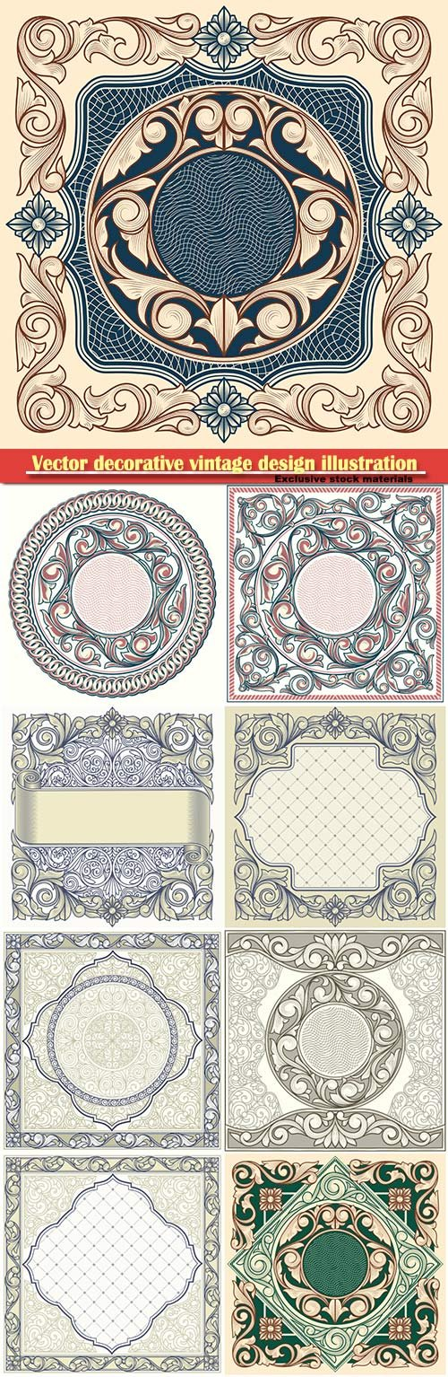 Vector decorative vintage design illustration