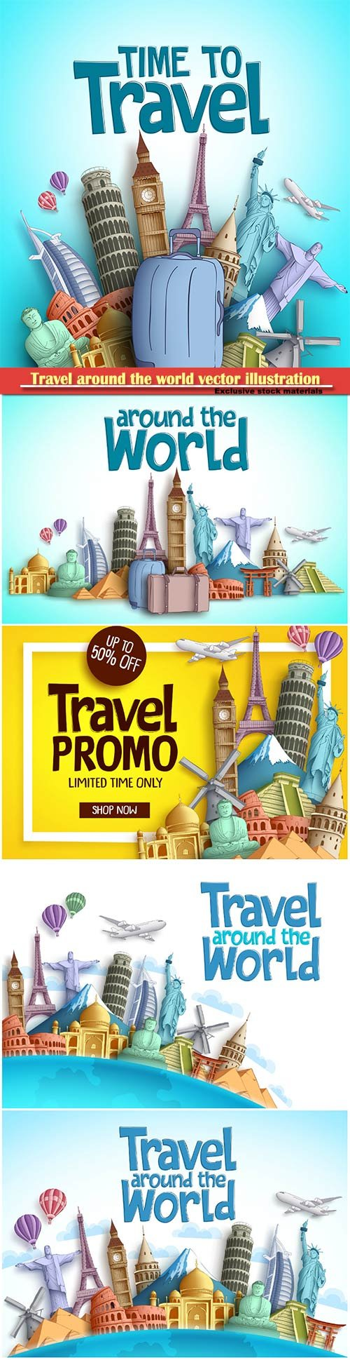 Travel around the world vector illustration