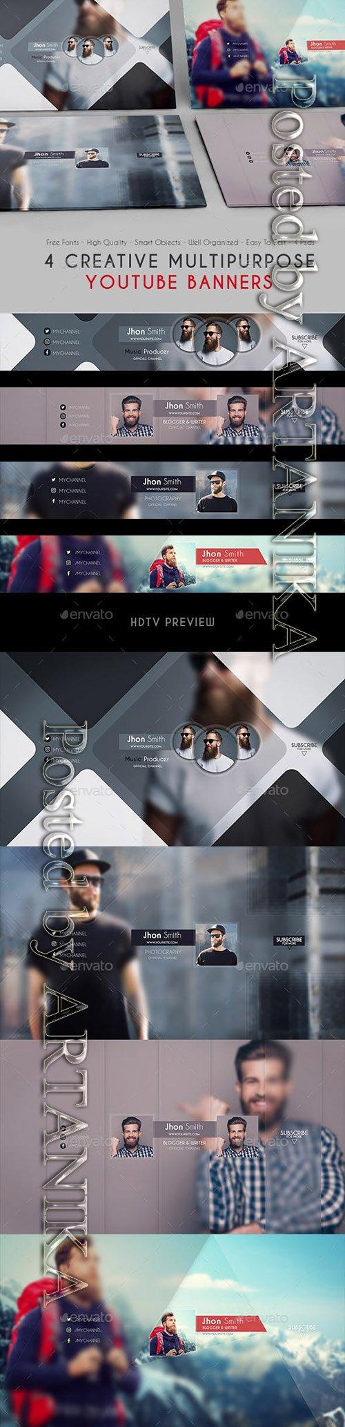 GraphicRiver - Creative Multipurpose YouTube Banners 21086002