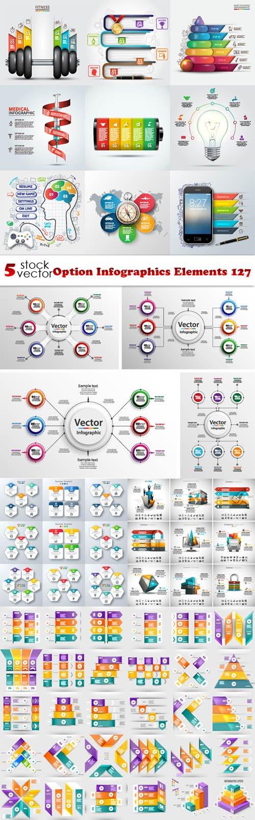 Vectors - Option Infographics Elements 127