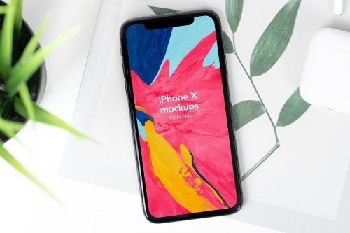 New iPhone X Mockup V1 Black