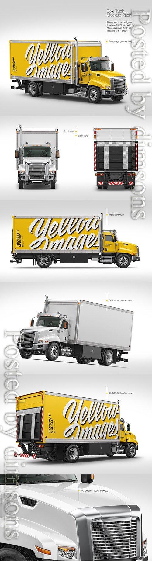 Box Truck Mockup Pack TIF