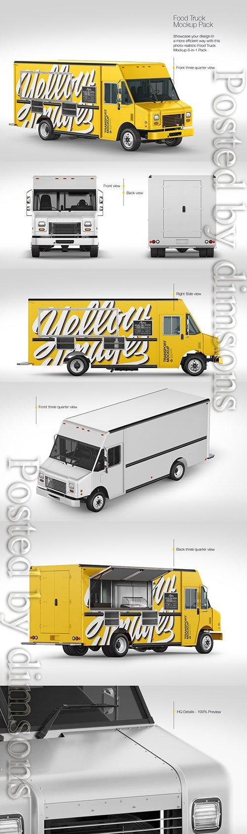 Food Truck Mockup Pack TIF