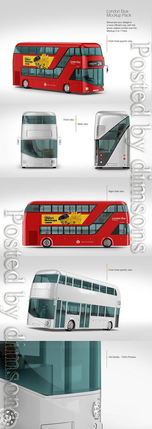 London Bus Mockup Pack TIF