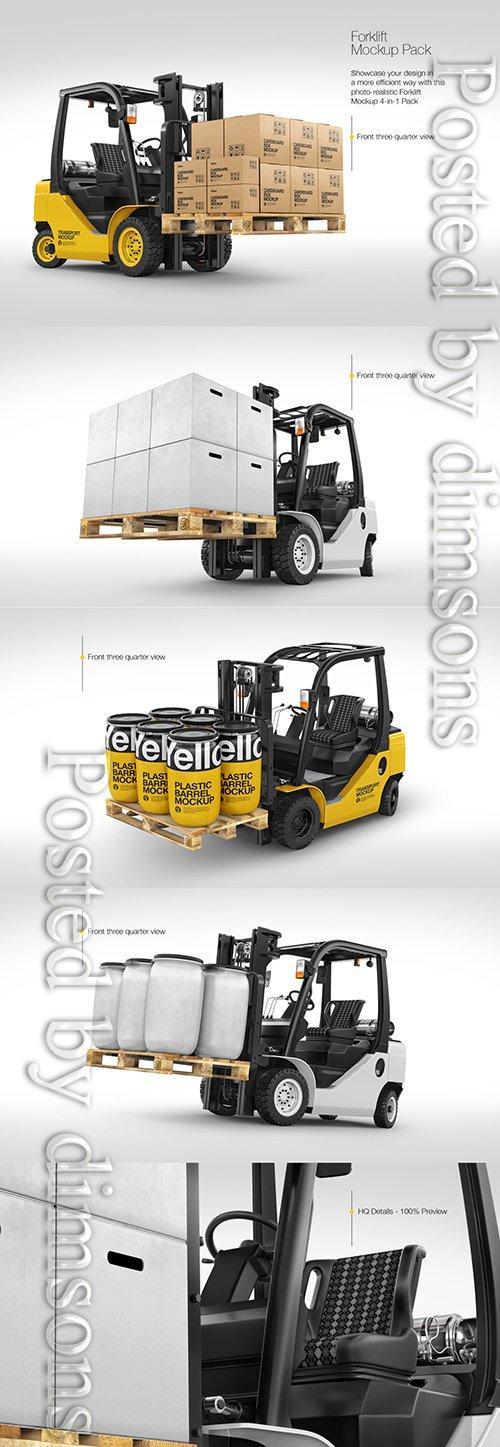 Forklift Mockup Pack TIF