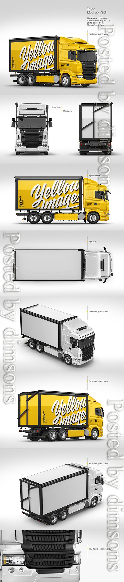 Truck Mockup Pack TIF