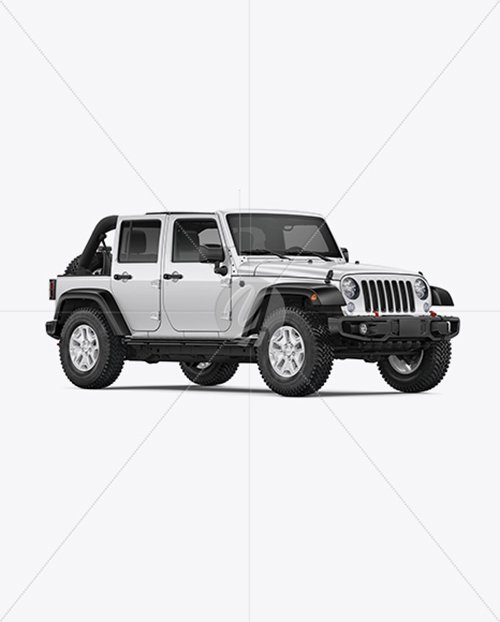 Off-Road SUV Open Roof Mockup - Half Side View TIF