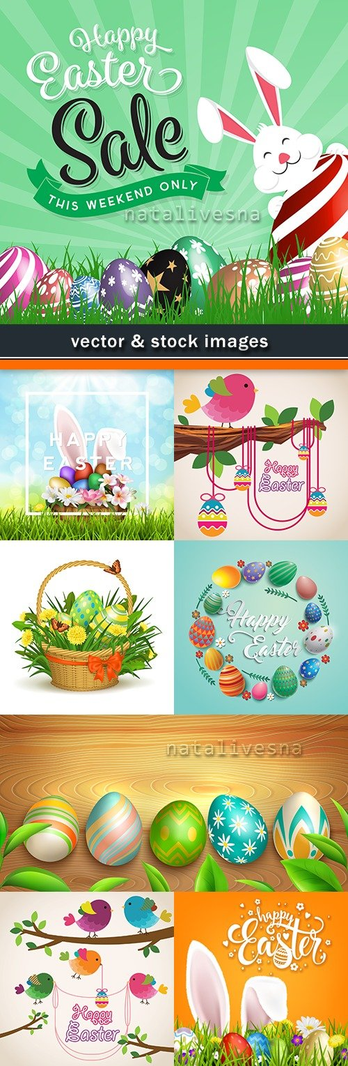 Happy Easter decorative illustration design elements 7