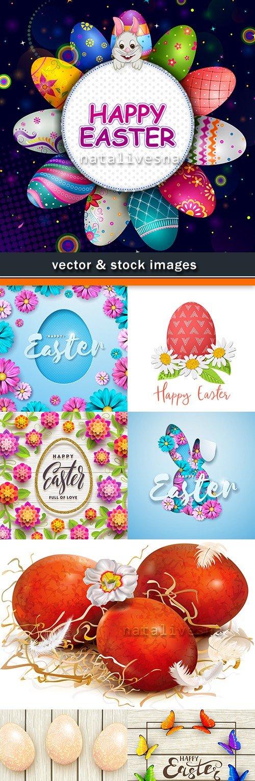 Happy Easter decorative illustration design elements 8