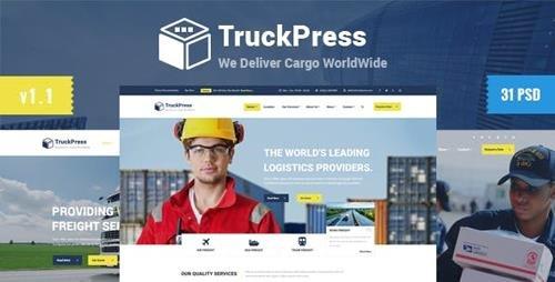 ThemeForest - Truck Press v1.0 - Logistics Transport Business PSD Template - 13648696