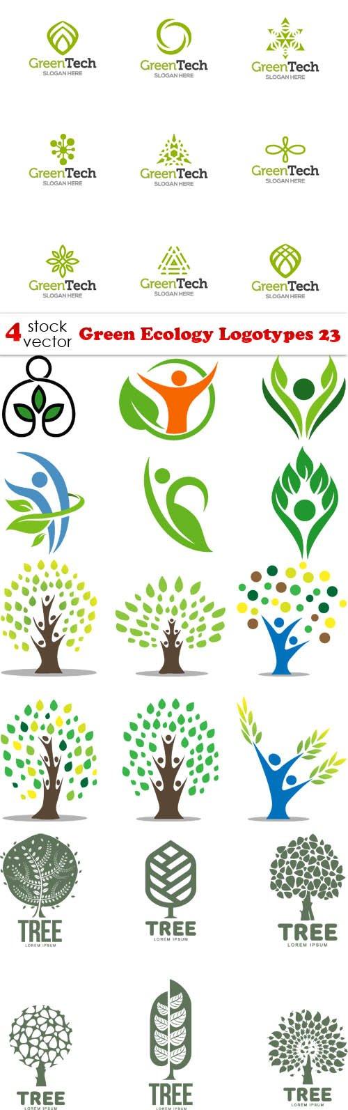 Vectors - Green Ecology Logotypes 23