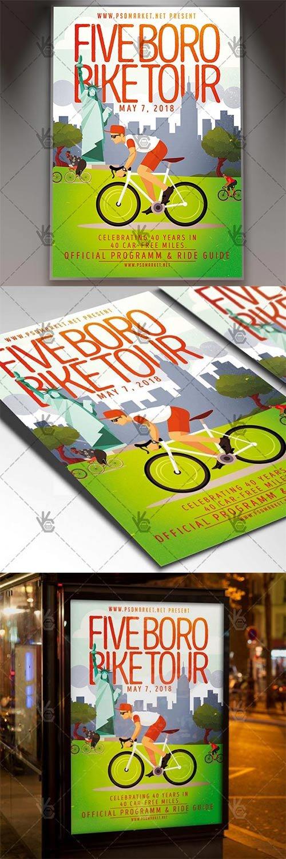 Bike Tour Flyer – Sport PSD Template