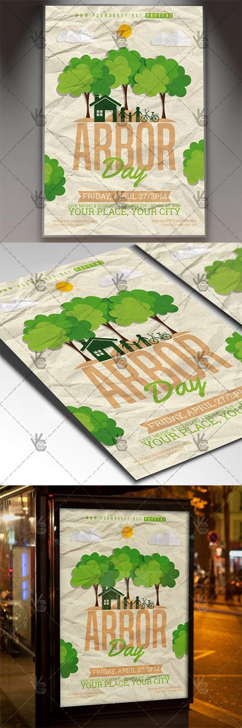 Arbor Day Flyer is a simply modern flyer design