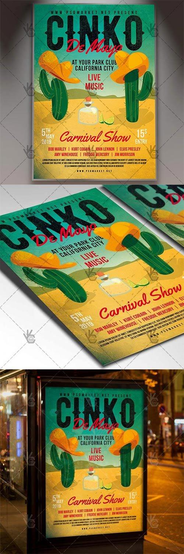 Cinco De Mayo Carnival Flyer – Club PSD Template