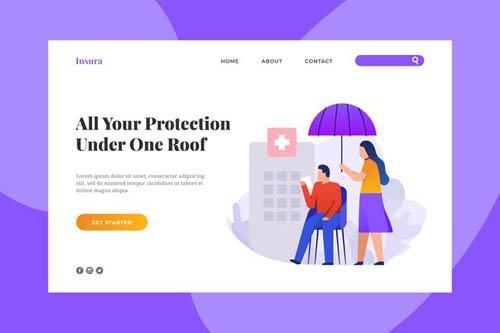 Insurance Company Landing Page