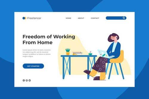 Freelancer Life Landing Page