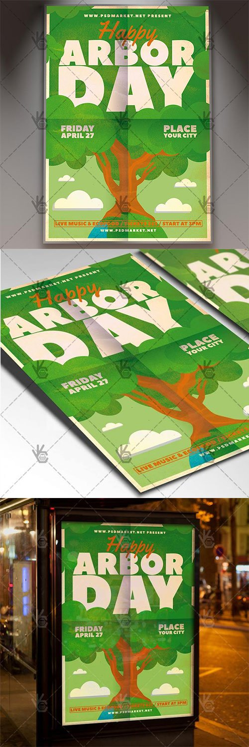 National Arbor Day Flyer – American PSD Template