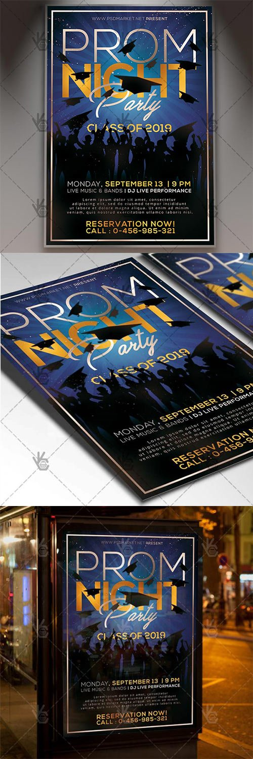 Prom Night Flyer – School PSD Template
