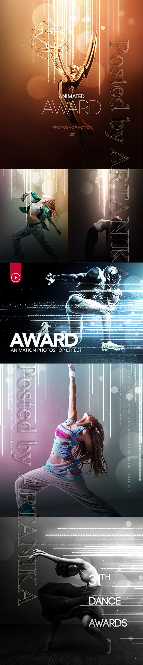 GraphicRiver - Gif Animated Award Effect Photoshop Action 19366534