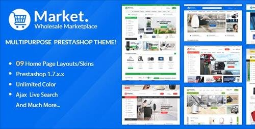 ThemeForest - Themes Market Responsive Prestashop 1.7 (Update: 21 January 19) - 22999272