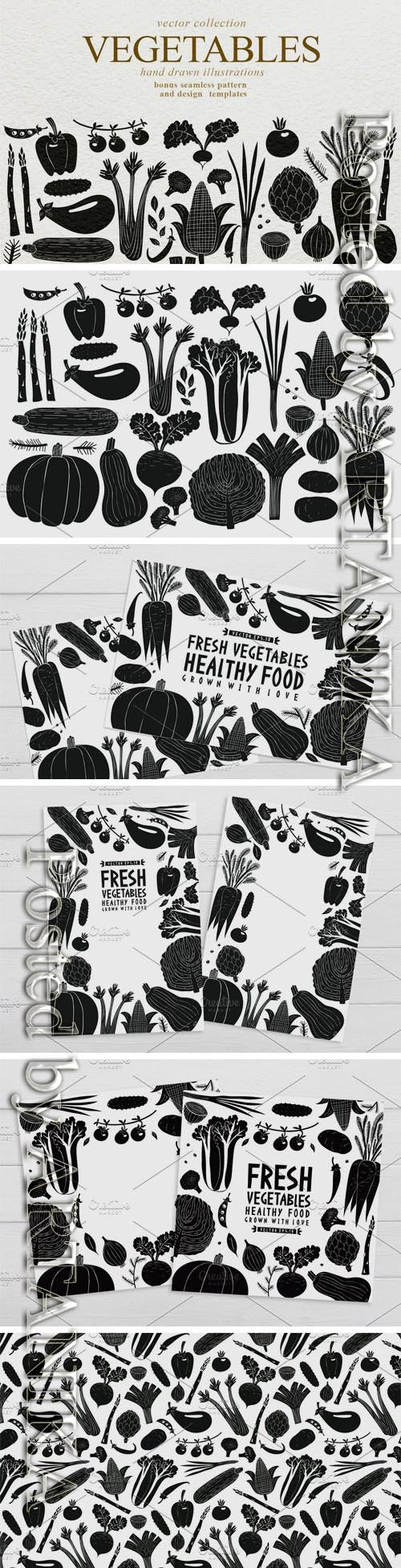 CM - Vegetables Vector Collection 3509708