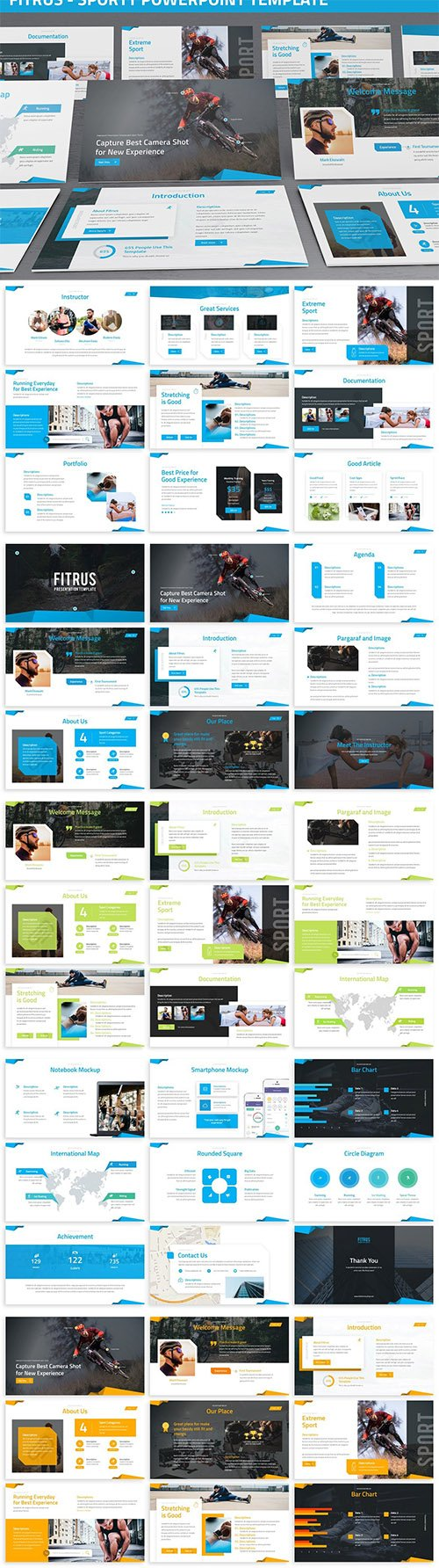 Fitrus - Sporty Powerpoint Template
