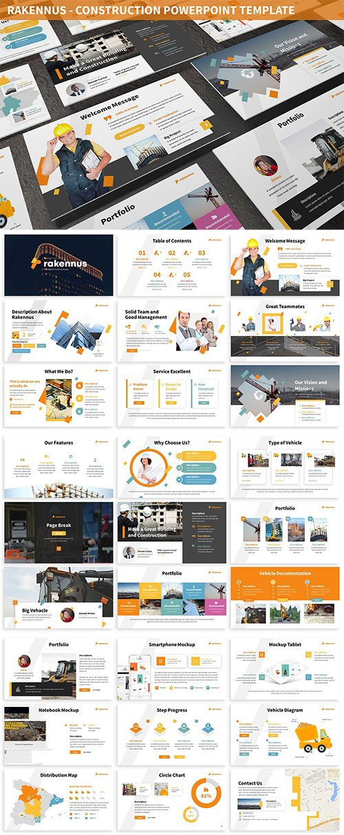 Rakennus - Construction Powerpoint Template