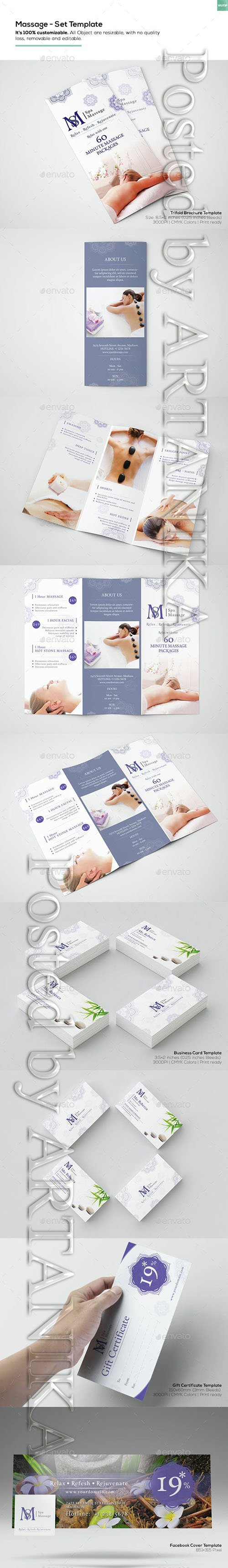 Graphicriver - Massage - Set Template 15252137