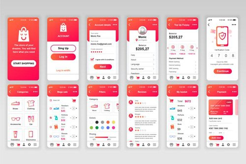 Shopping Mobile App UX and UI Kit
