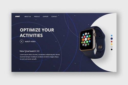 Smart Watch Hero Header Template