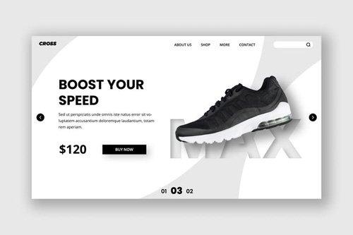 Footwear Hero Header Template