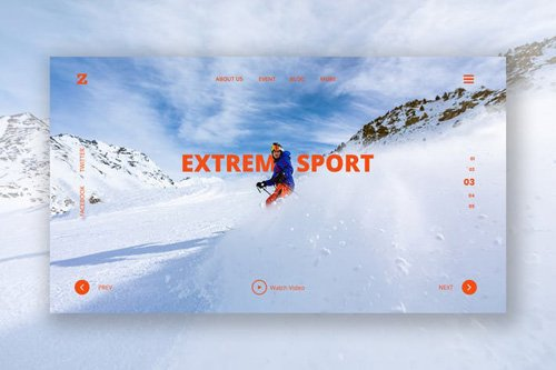 Extreme Sport Header Template