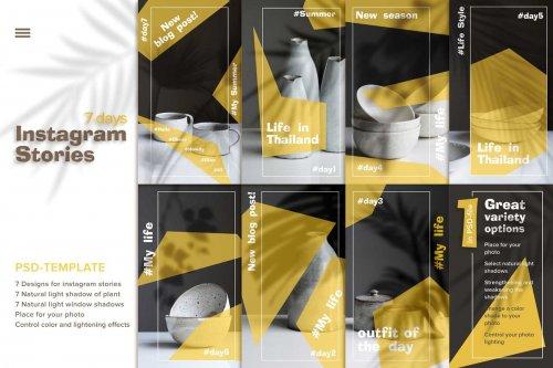 CreativeMarket - 7 days Instagram stories Template sc 3700158