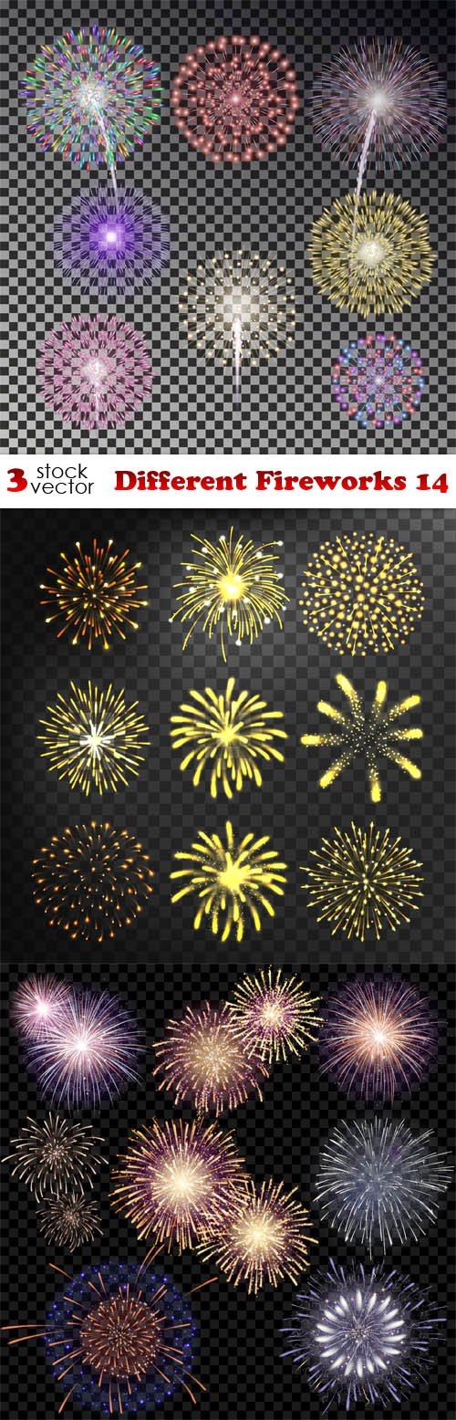 Vectors - Different Fireworks 14