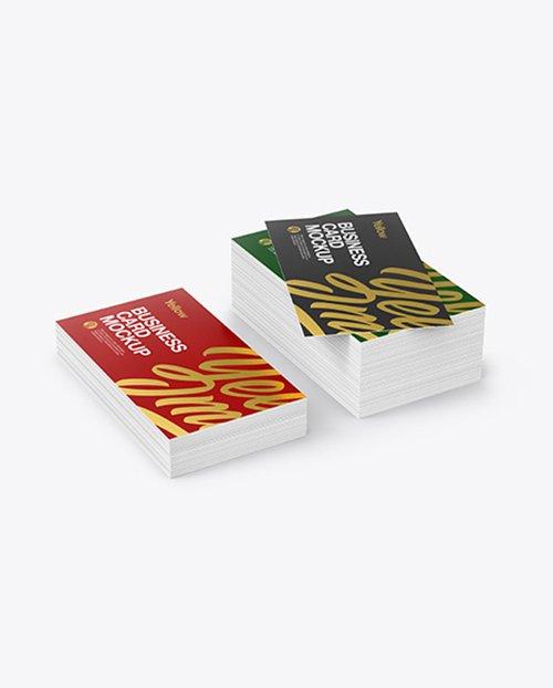 Stack of Business Cards Mockup TIF