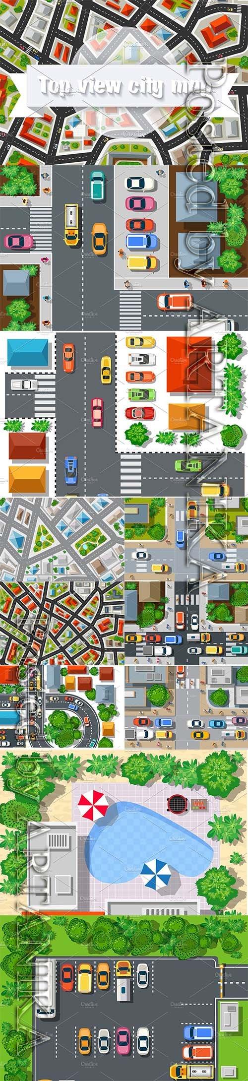 CreativeMarket - City top view Bundle map city 1121360
