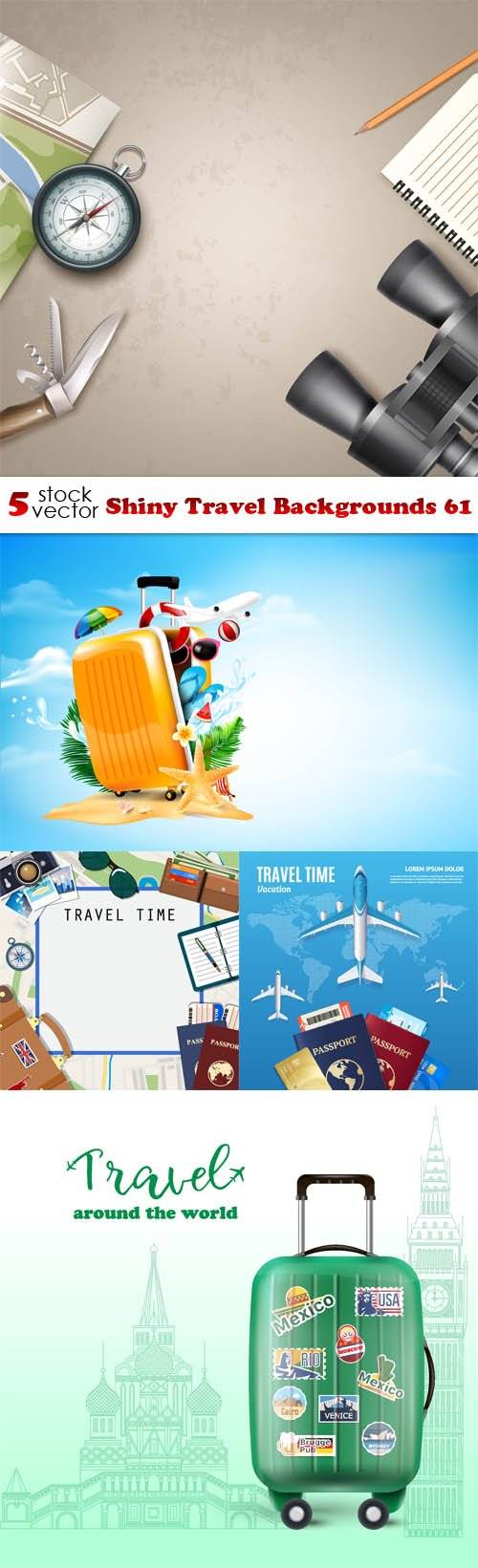 Vectors - Shiny Travel Backgrounds 61