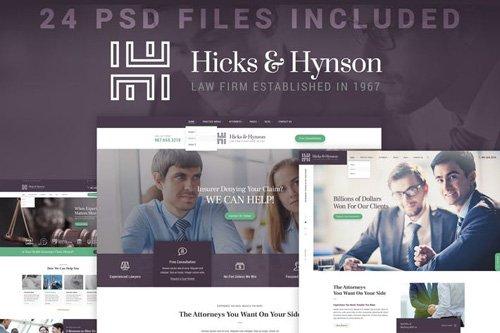 Hicks & Hynson - Law Firm/Attorney PSD Template