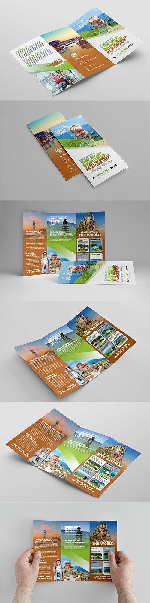 Travel Trifold Brochure PSD
