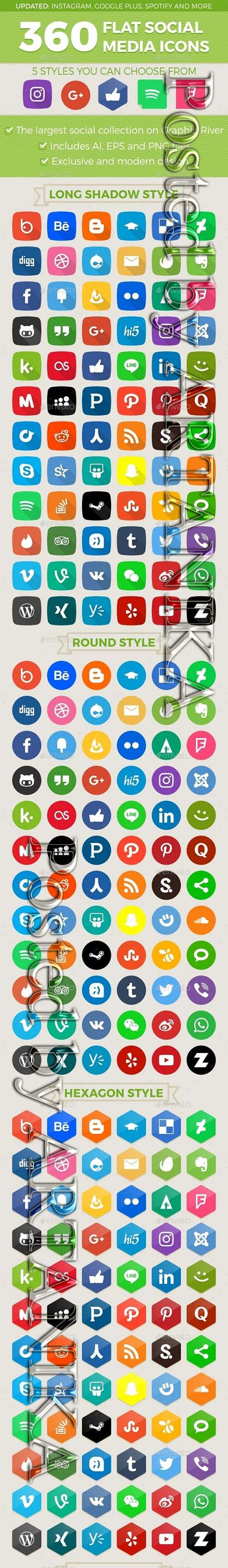 GraphicRiver - Social Media Icons 11988212