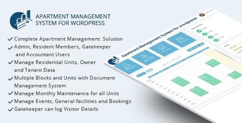 CodeCanyon - WPAMS v17.0 - Apartment Management System for wordpress - 15946837 - NULLED